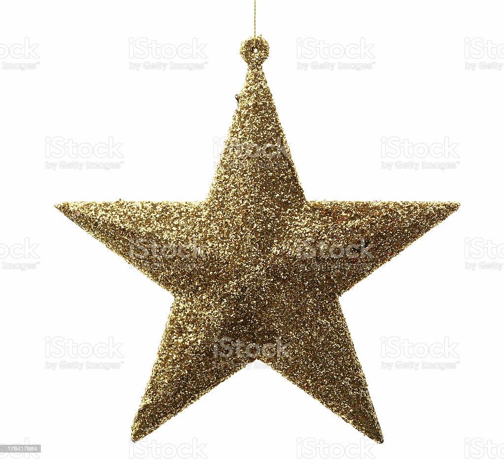 Golden star royalty-free stock photo