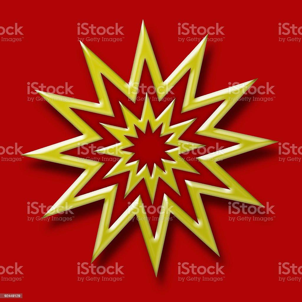 3D: Golden star royalty-free stock photo
