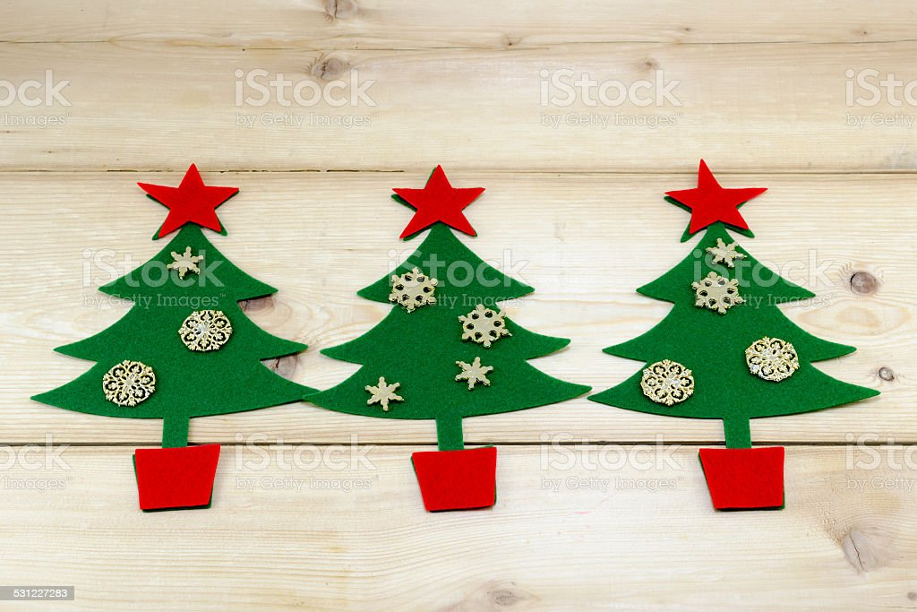 Golden stars and Christmas trees royalty-free stock photo