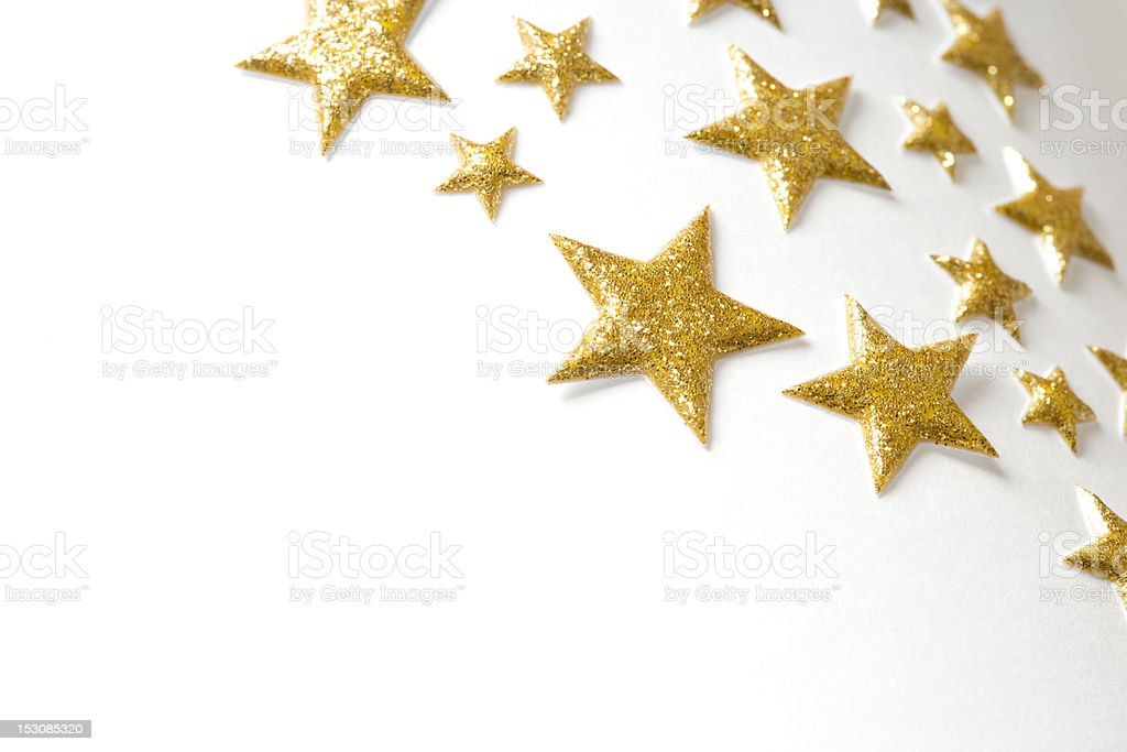 Golden Stars royalty-free stock photo