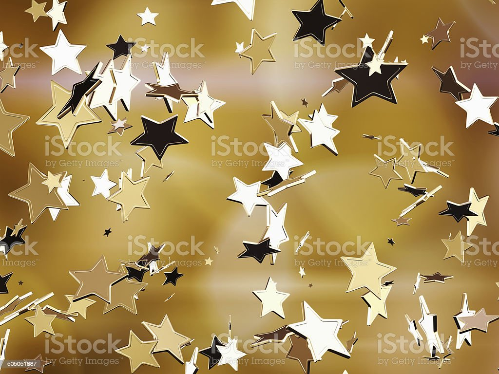 Golden stars. stock photo