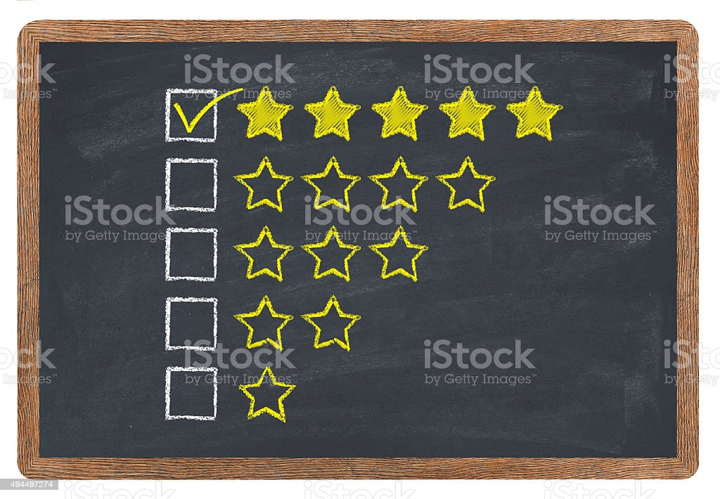 Golden stars rating stock photo