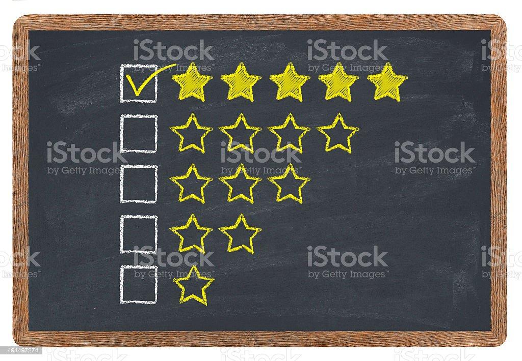 Golden stars rating stock photo