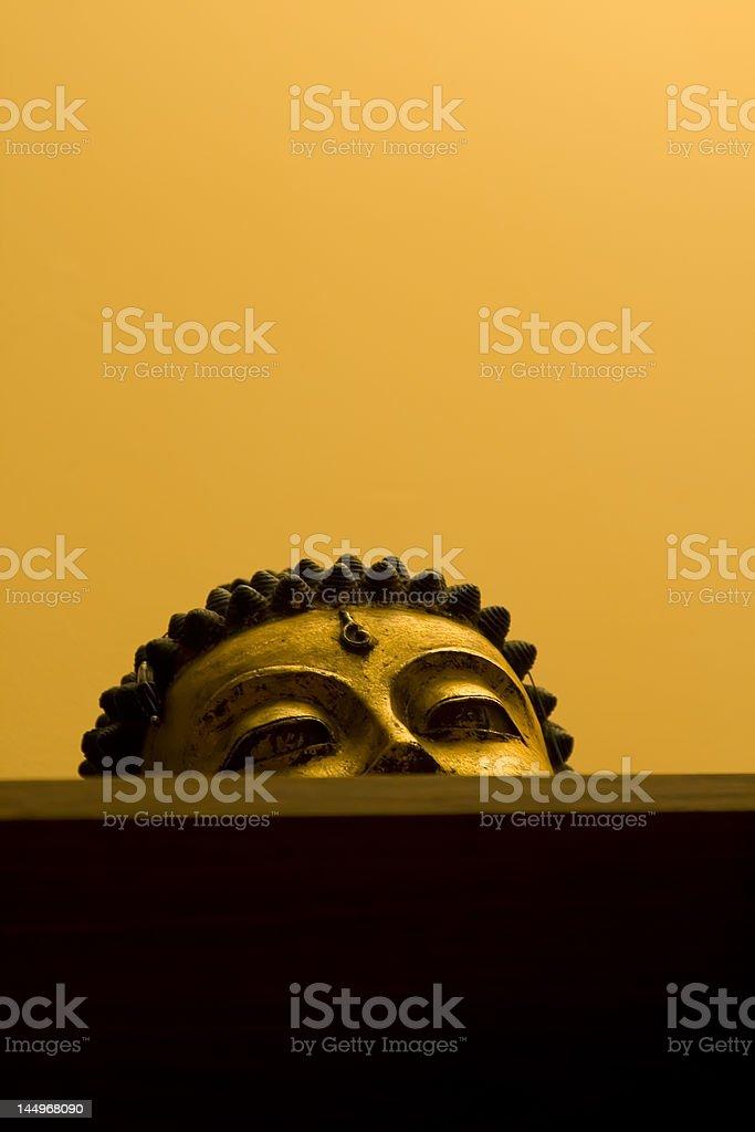 Golden Statue Head royalty-free stock photo