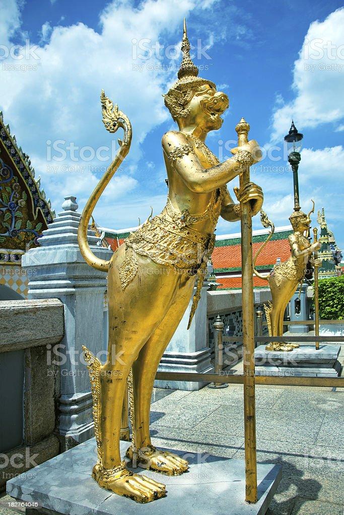 Golden Statue in Bangkok royalty-free stock photo