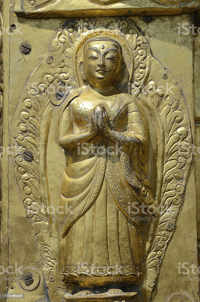 Golden statue royalty-free stock photo