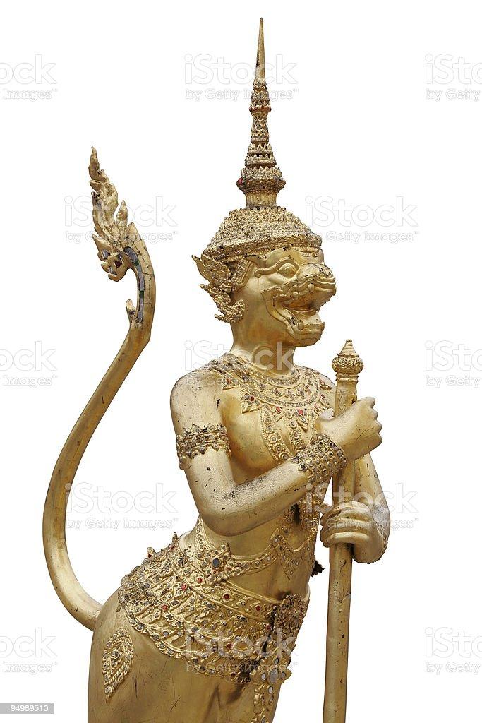 Golden statue stock photo