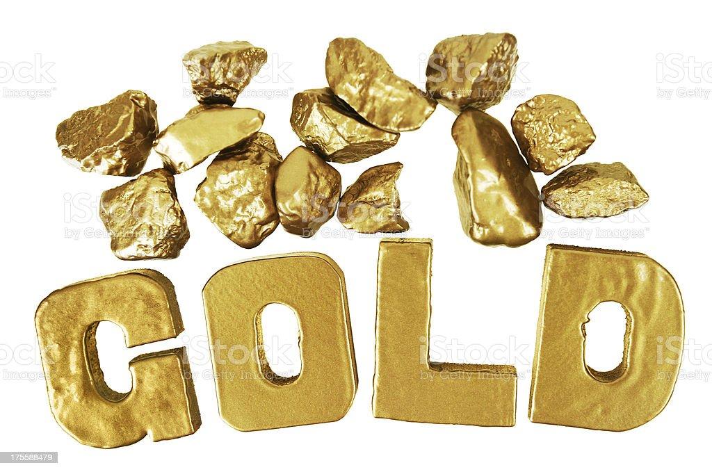 Golden Stones stock photo