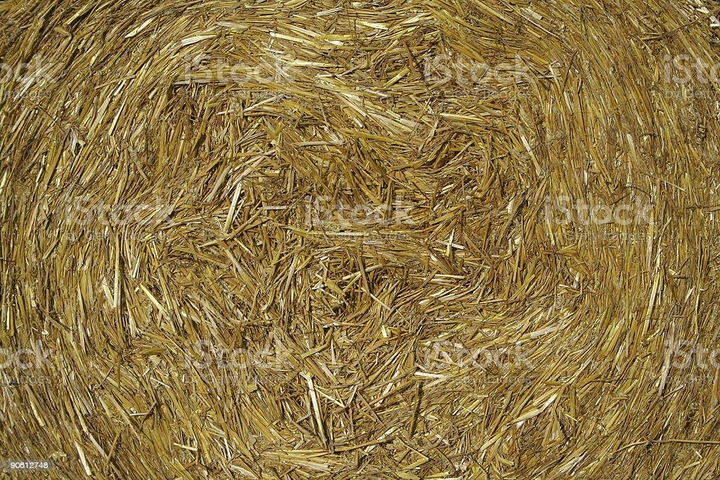 Golden Straw Bale Background stock photo