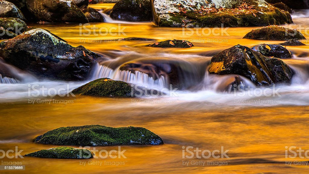 Golden Stream at Tremong stock photo