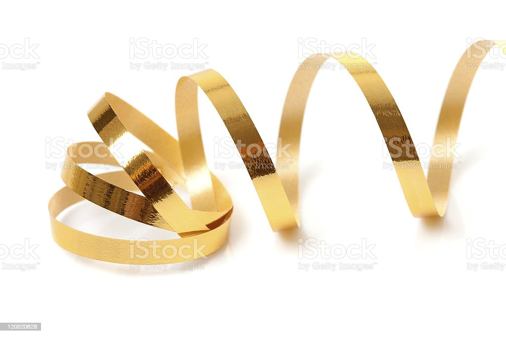 Golden streamer stock photo