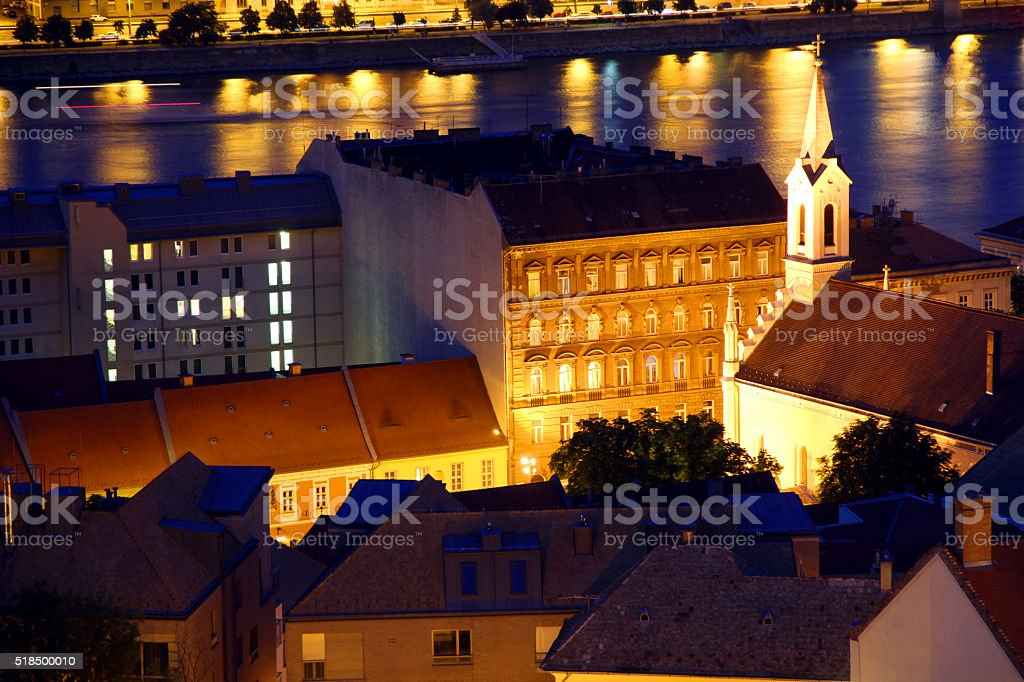 Golden Streets of Budapest stock photo