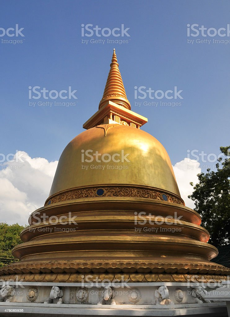 Golden stupa at Dambulla Cave Temples stock photo