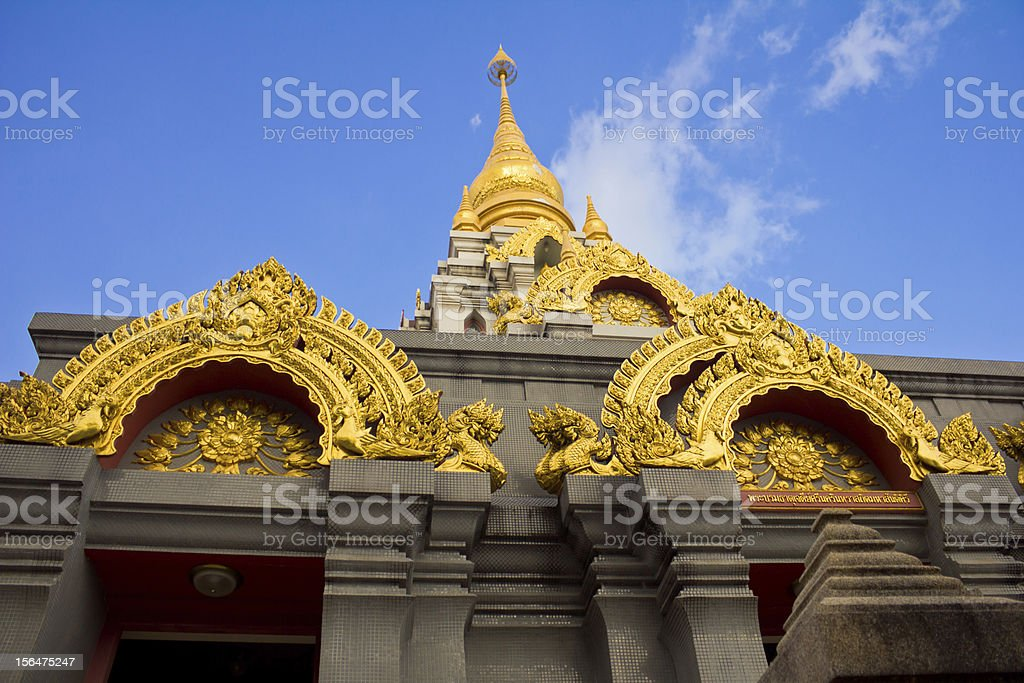 Golden stupa at Doi Mae Salong, Thailand. royalty-free stock photo