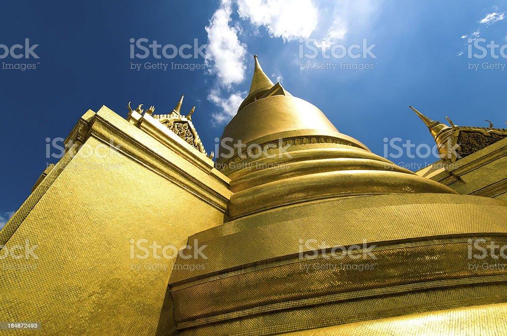 Golden Stupa at Wat Phra Kaew, Bangkok, Thailand stock photo
