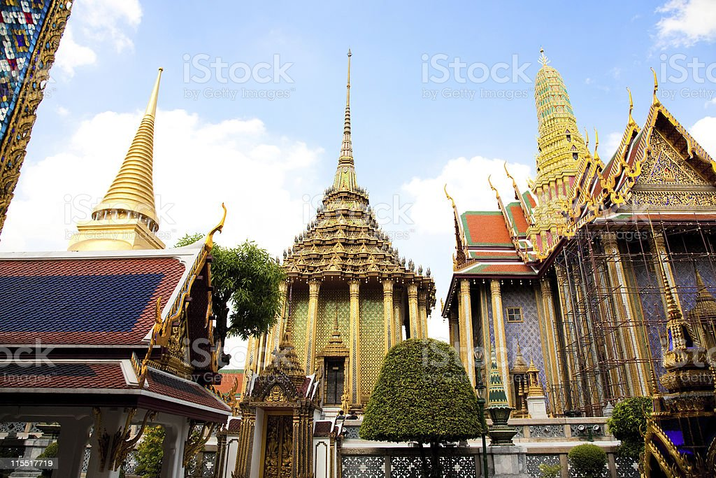 Golden Stupa royalty-free stock photo