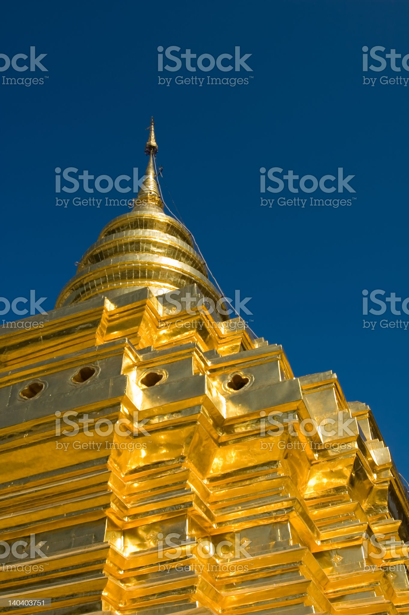 Golden stupa royalty-free stock photo