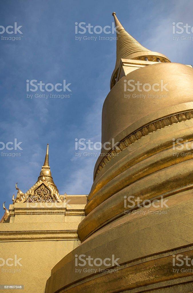 Golden Stupa, Royal Palace, Bangkok stock photo