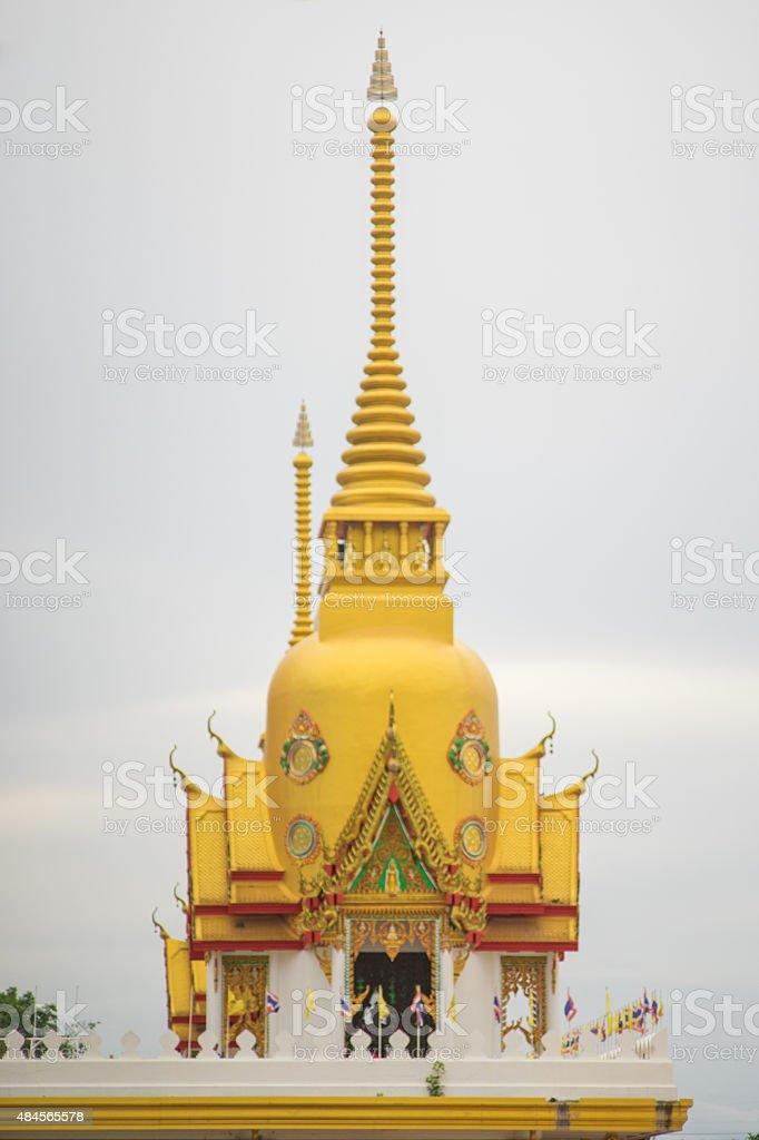 Golden Stupa Temple stock photo