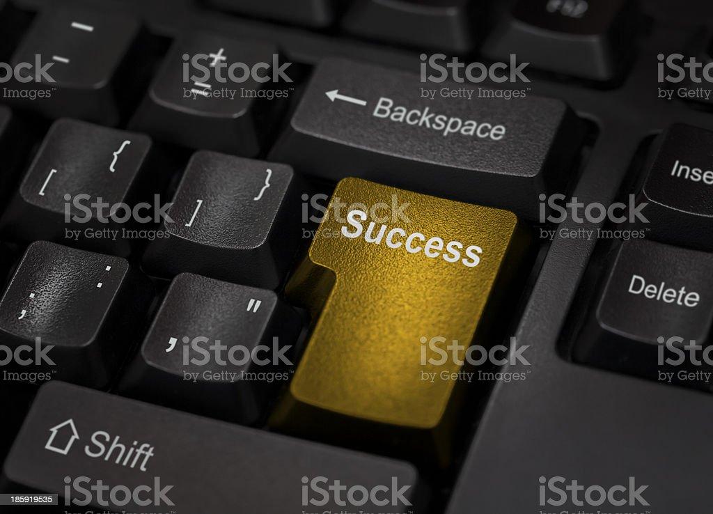 golden success computer key royalty-free stock photo