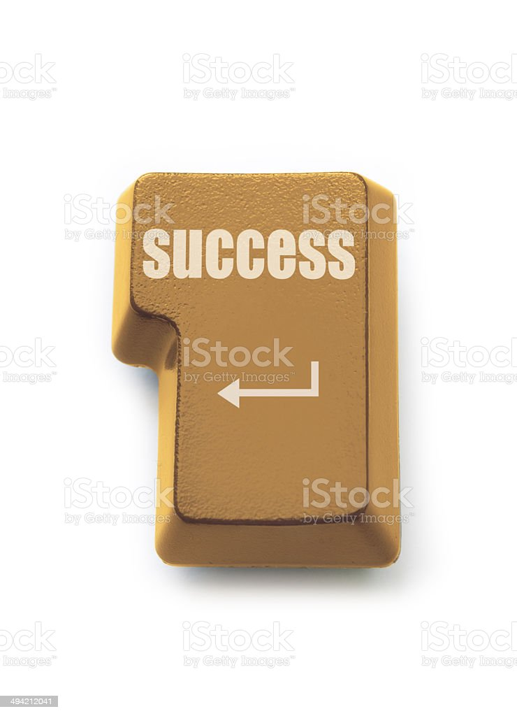 Golden success royalty-free stock photo