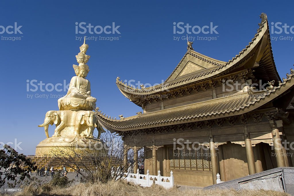 Golden Summit, Emei Shan stock photo