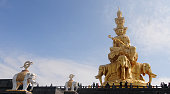 Golden Summit Temple at the peak of Emeishan
