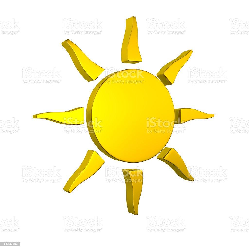 Golden sun royalty-free stock photo