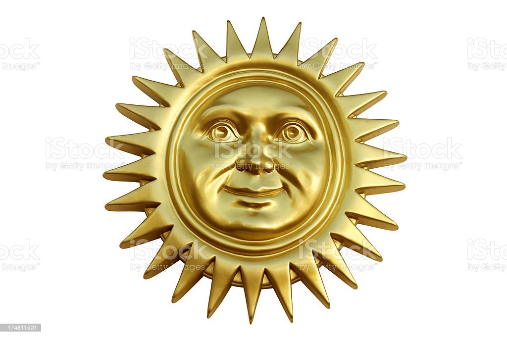 Golden Sun royalty-free stock photo