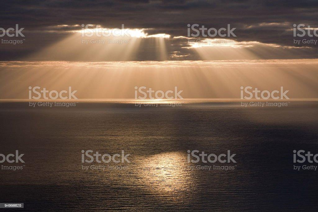 Golden Sunbeams royalty-free stock photo