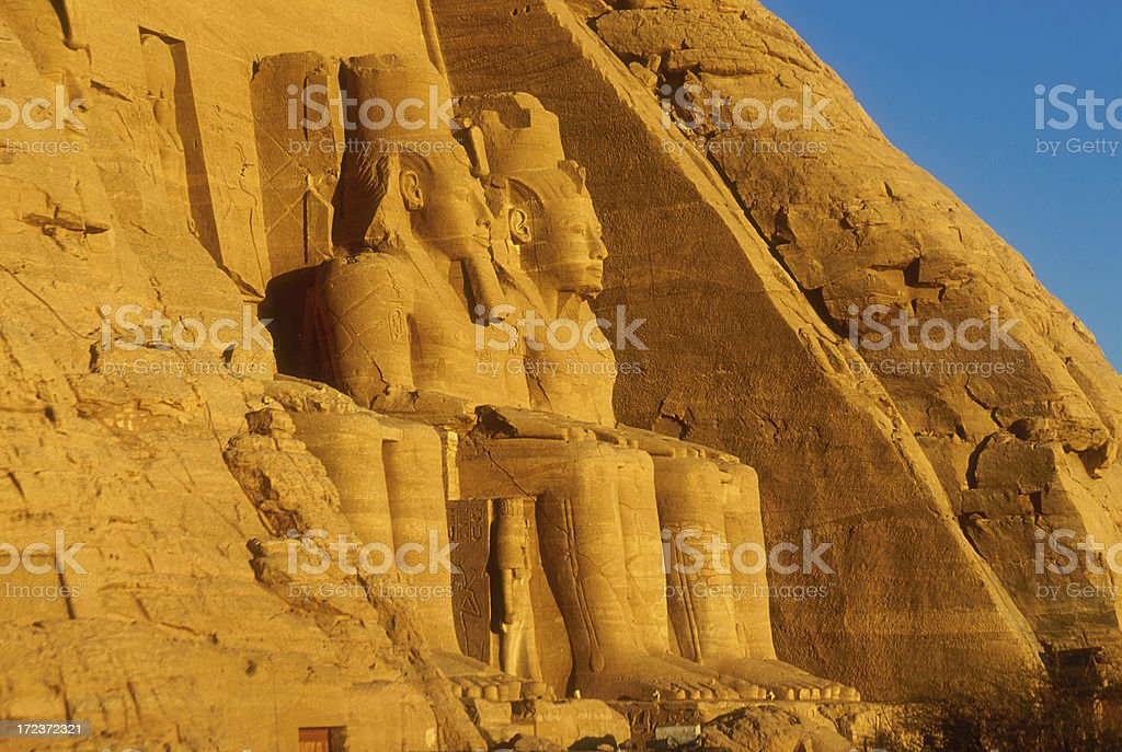 Golden Sunrise in Abu Simbel stock photo