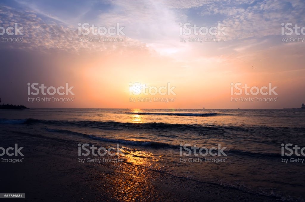 Golden Sunset at the Asia's Largest stock photo