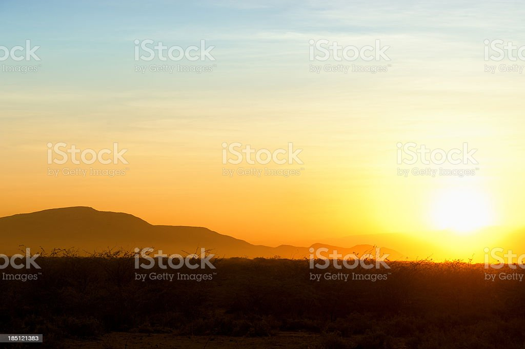 Golden Sunset at the Horn of Africa royalty-free stock photo