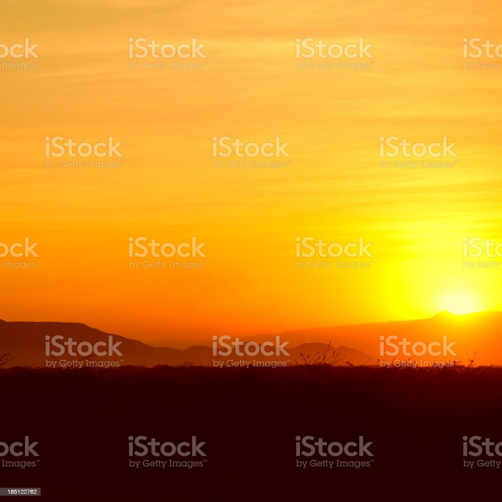 Golden Sunset at the Horn of Africa stock photo