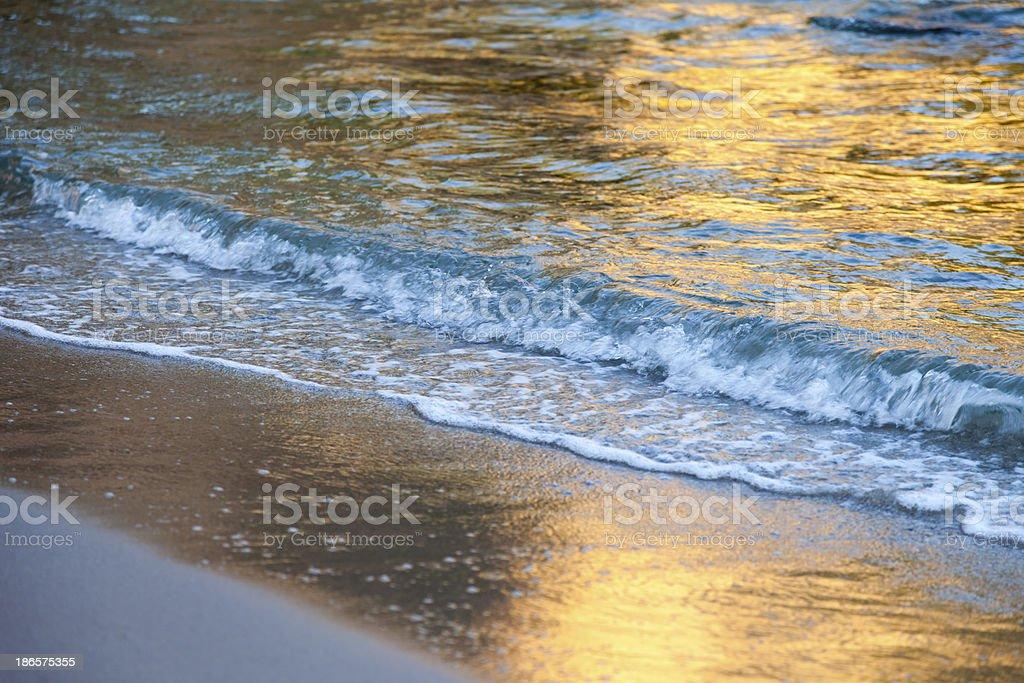 Golden sunset royalty-free stock photo