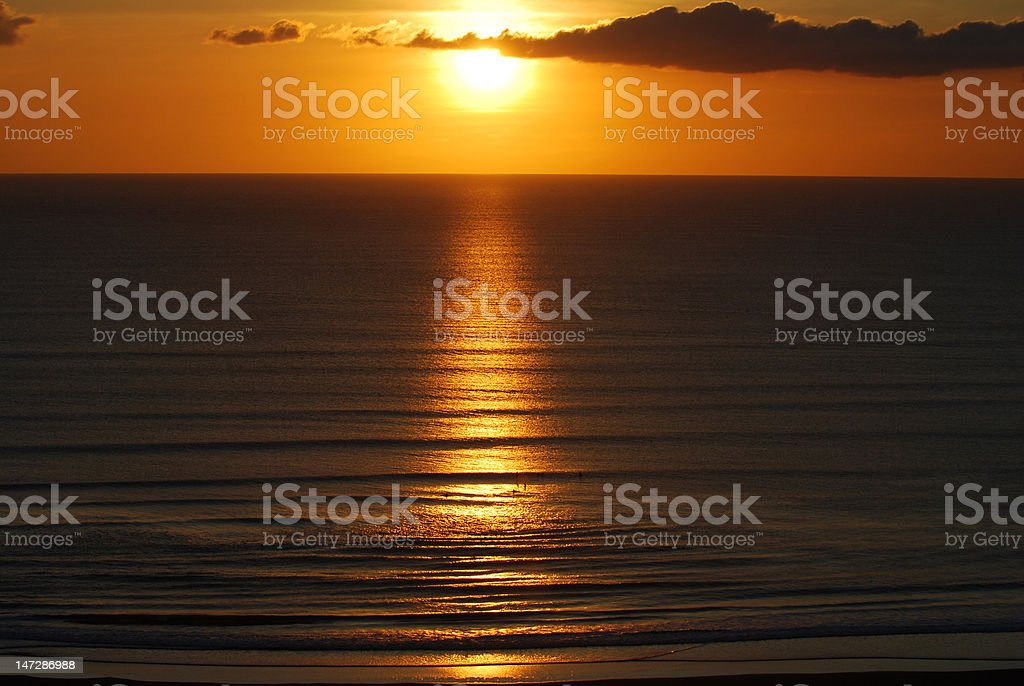 Golden surfers stock photo