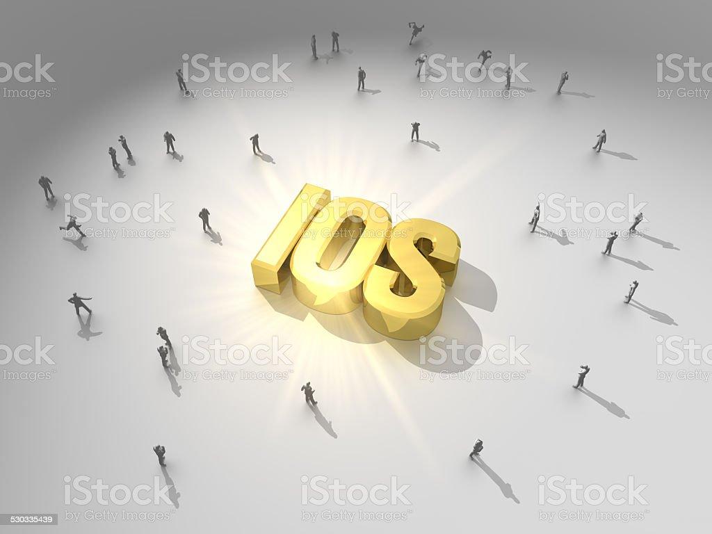 Golden System stock photo