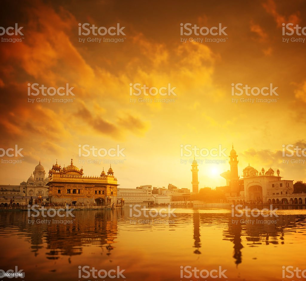 Golden Temple Amritsar India stock photo