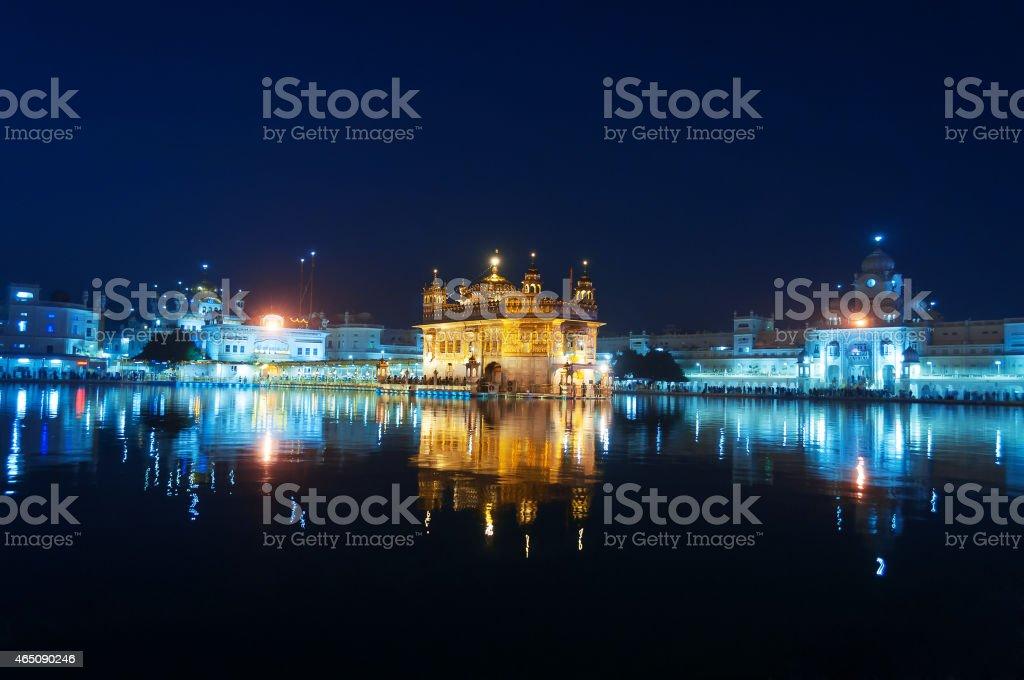 Golden Temple at night. Amritsar. India stock photo