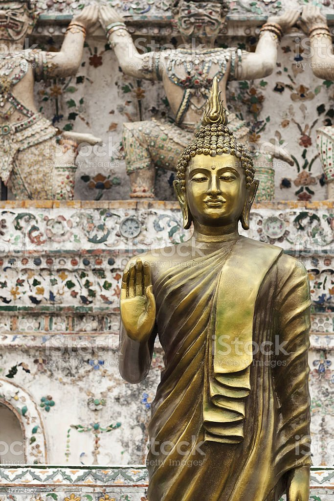 Golden temple buddha royalty-free stock photo