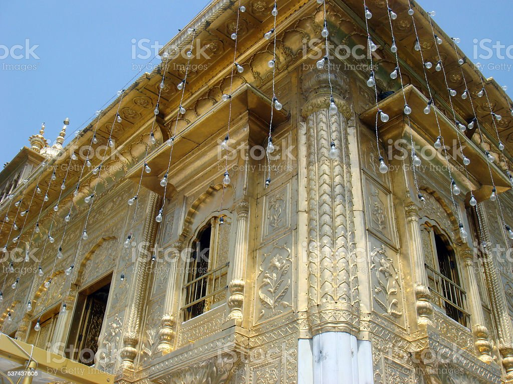 Golden Temple Closeup View stock photo
