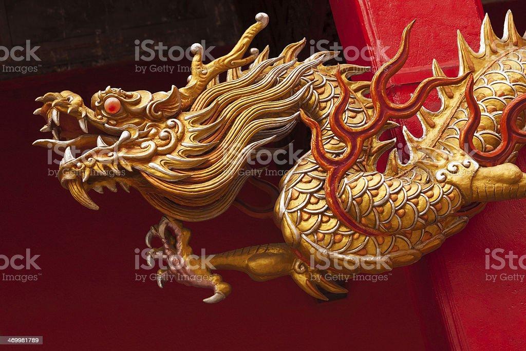 Golden temple dragon stock photo