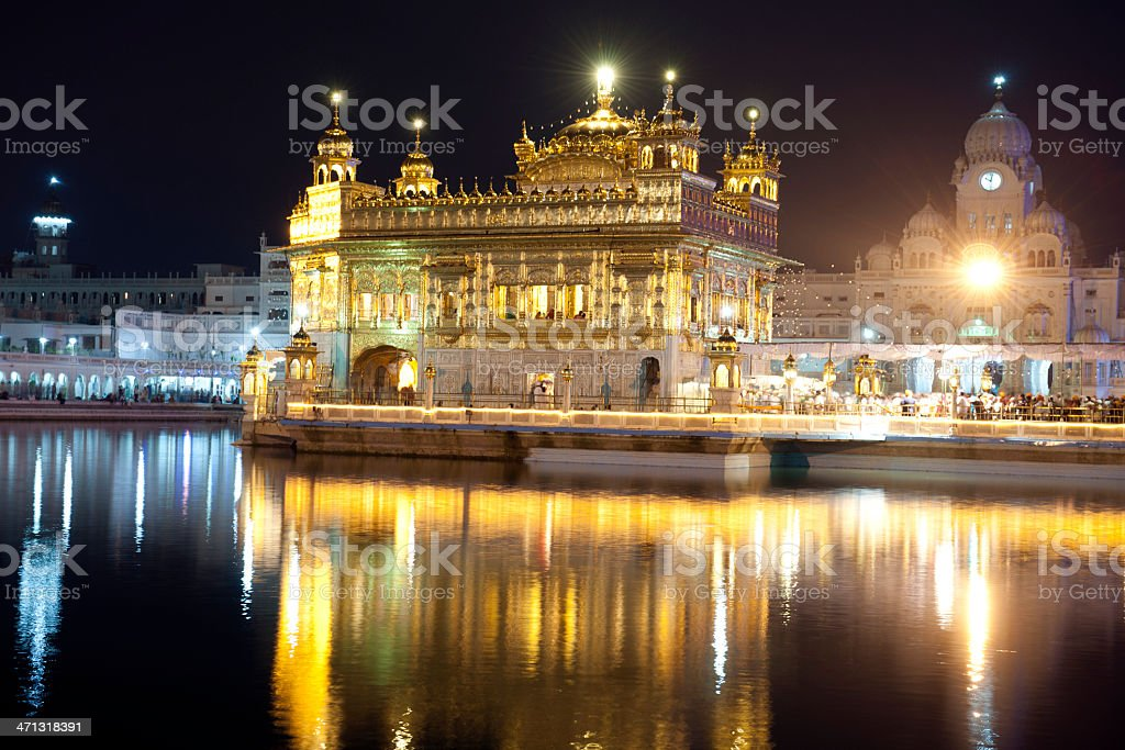 Golden Temple in Amritsar Northern India stock photo