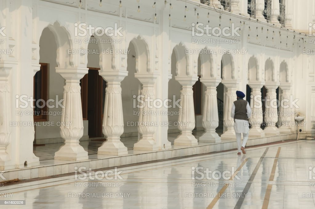 Golden temple in Amritsar. stock photo