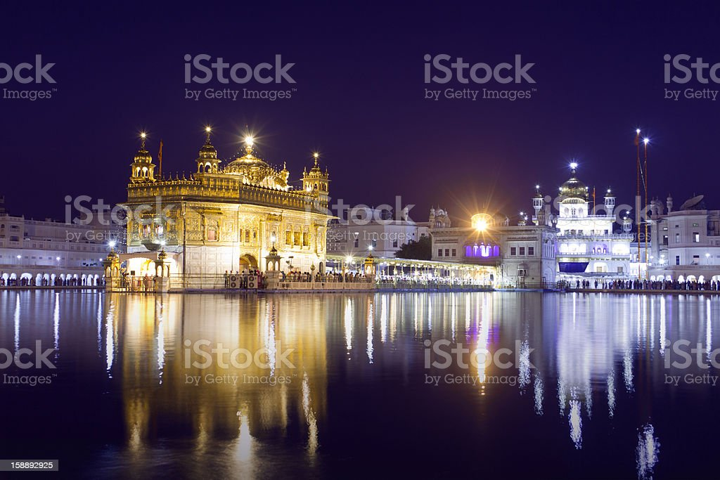 Golden Temple in Amritsar, Punjab, India. stock photo
