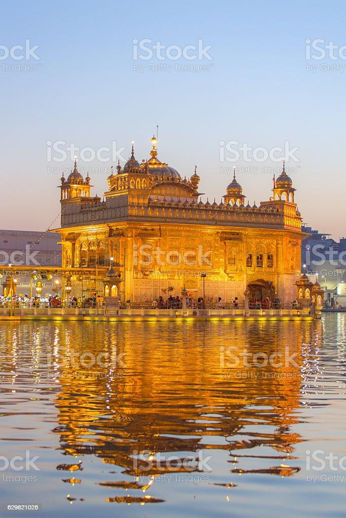 Golden Temple (Harmandir Sahib) in Amritsar, Punjab, India stock photo