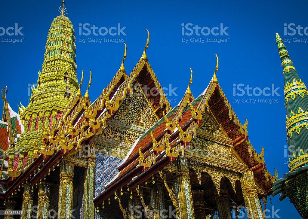 golden temple in Bangkok, Thailand stock photo