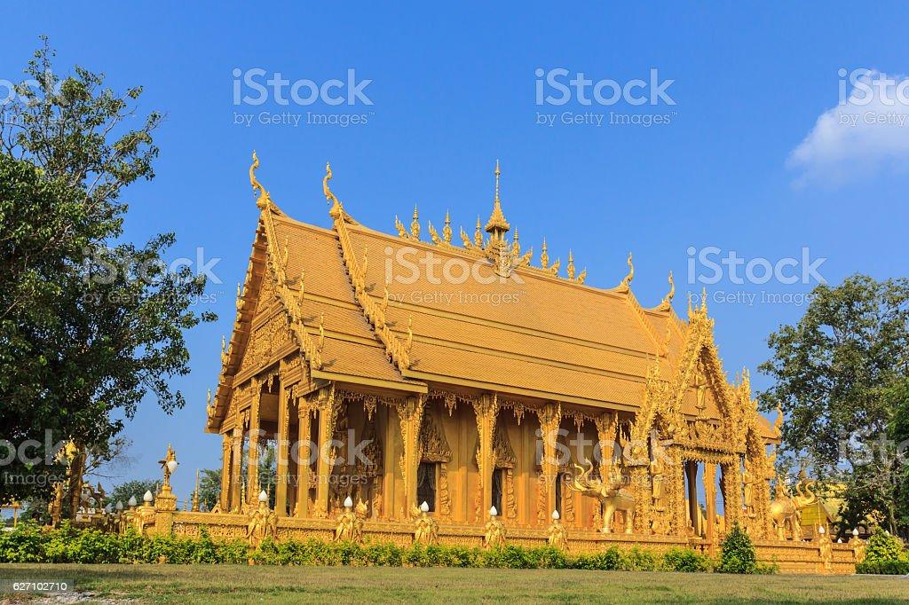 Golden temple landmark Buddhist stock photo