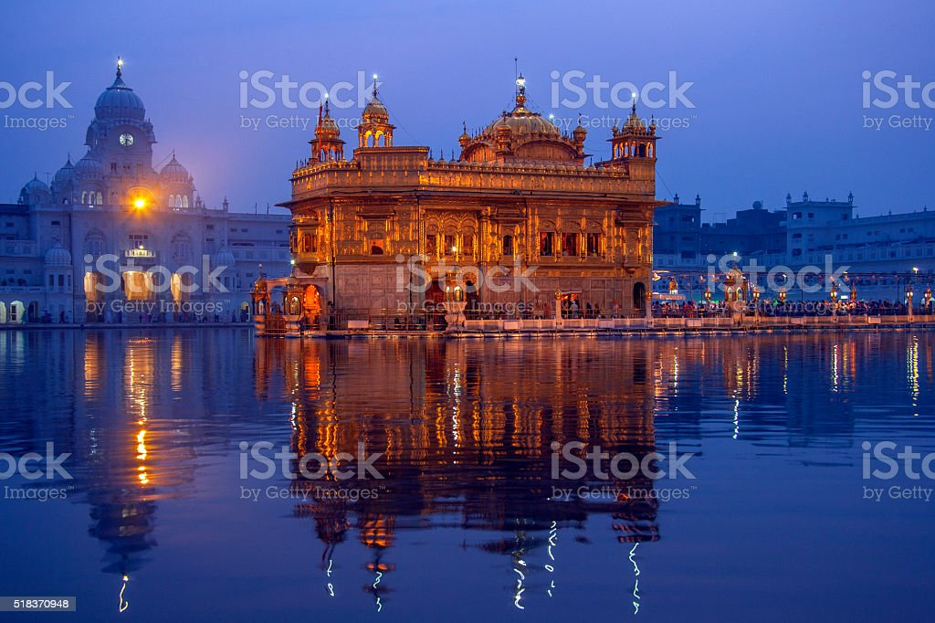 Golden Temple of Amritsar - Pubjab - India stock photo