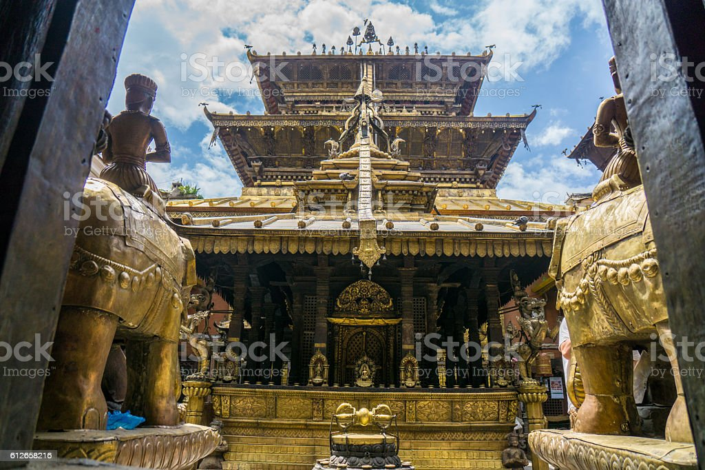 Golden Temple Patan stock photo